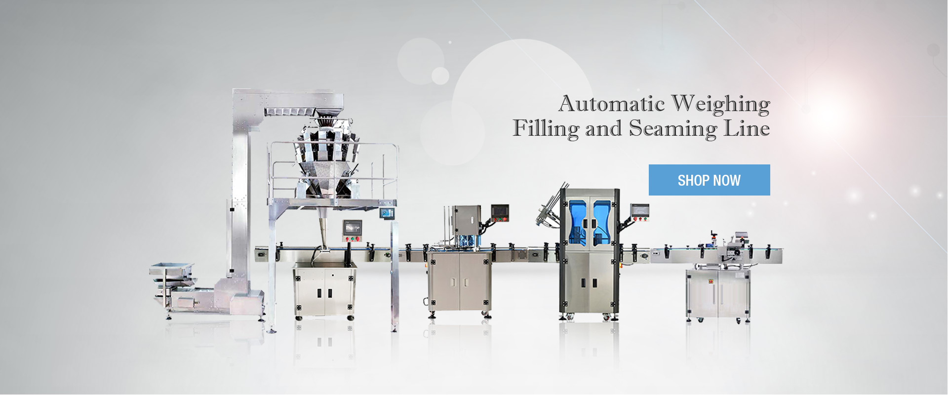 Automatic Weighing Filling and Seaming Line