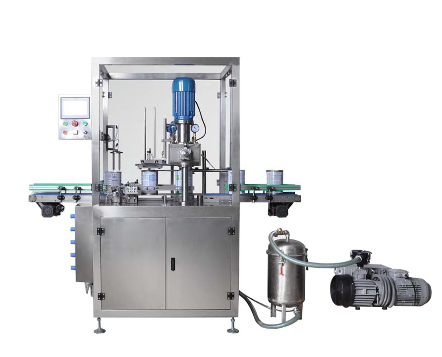 Automatic Vacuum Nitrogen Flushing Can Seaming Machine, Nitrogen Can Sealing Machine