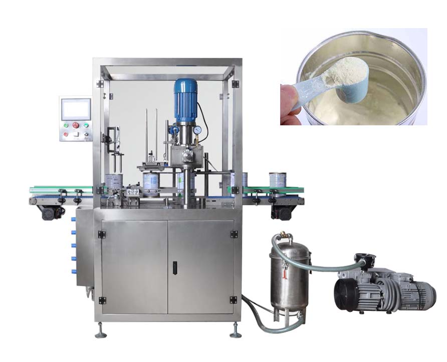 Automatic Vacuum Nitrogen Flushing Can Seaming Machine, Nitrogen Can Sealing Machine